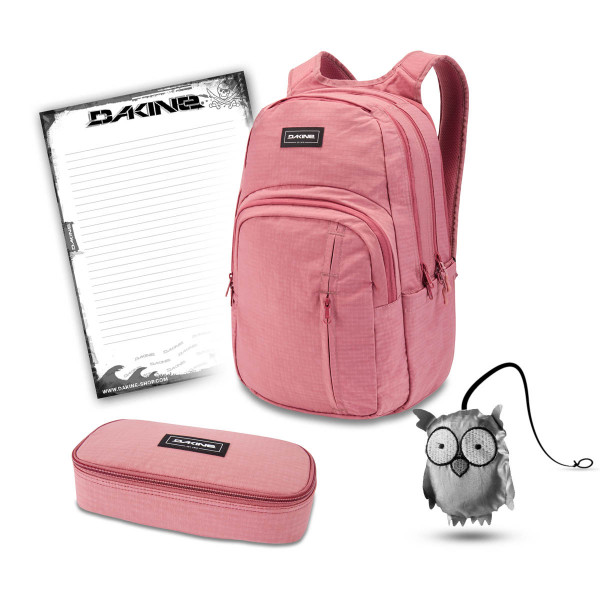Dakine Campus Premium 28L + School Case XL + Emma + Block Set de Escuela Faded Grape