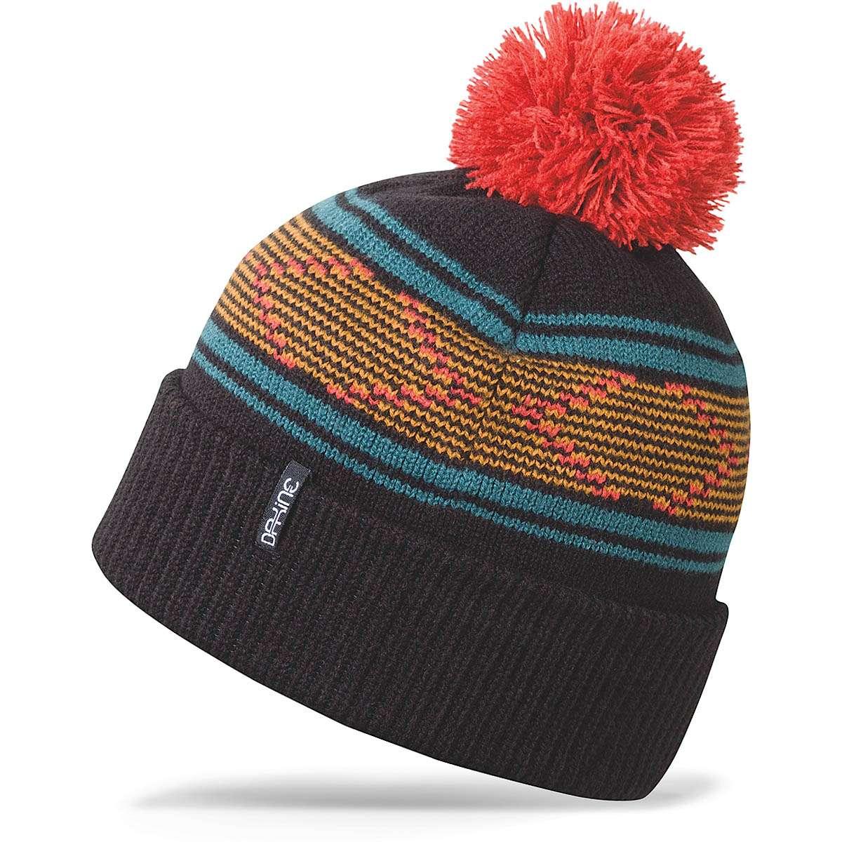 Dakine Rowe bobble el sombrero para damas Negro  f370b4d95b5
