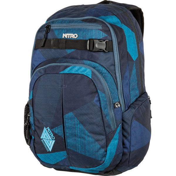 Nitro Chase 35L Laptop Mochila Fragments Blue