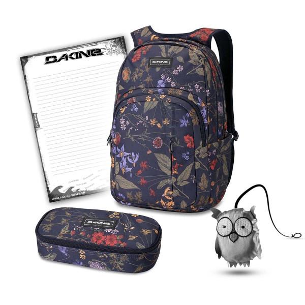 Dakine Campus Premium 28L + School Case XL + Emma + Block Set de Escuela Botanics Pet