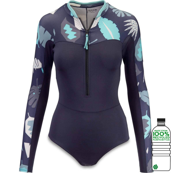 Dakine Women's Persuasive Surf Suit L/S Damen Lycra Abstract Palm