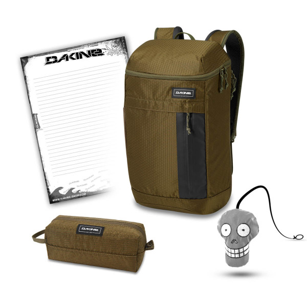 Dakine Concourse 25L + Accessory Case + Harry + Block Set de Escuela Dark Olive Dobby