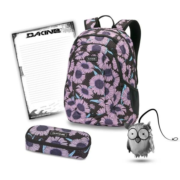 Dakine Garden 20L + School Case + Emma + Block Set de Escuela Nightflower