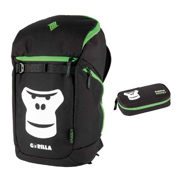 Nitro Nikuro 26L + Pencil Case XL School Set Gorilla
